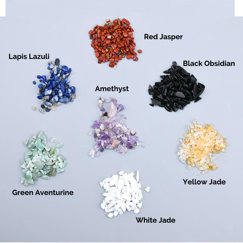 Natural Energy Gemstone Crushed Stone Massage Health Care SPA 7/10 Chakra Crystal Stone Mineral Reiki Healing Jade Massager недорого