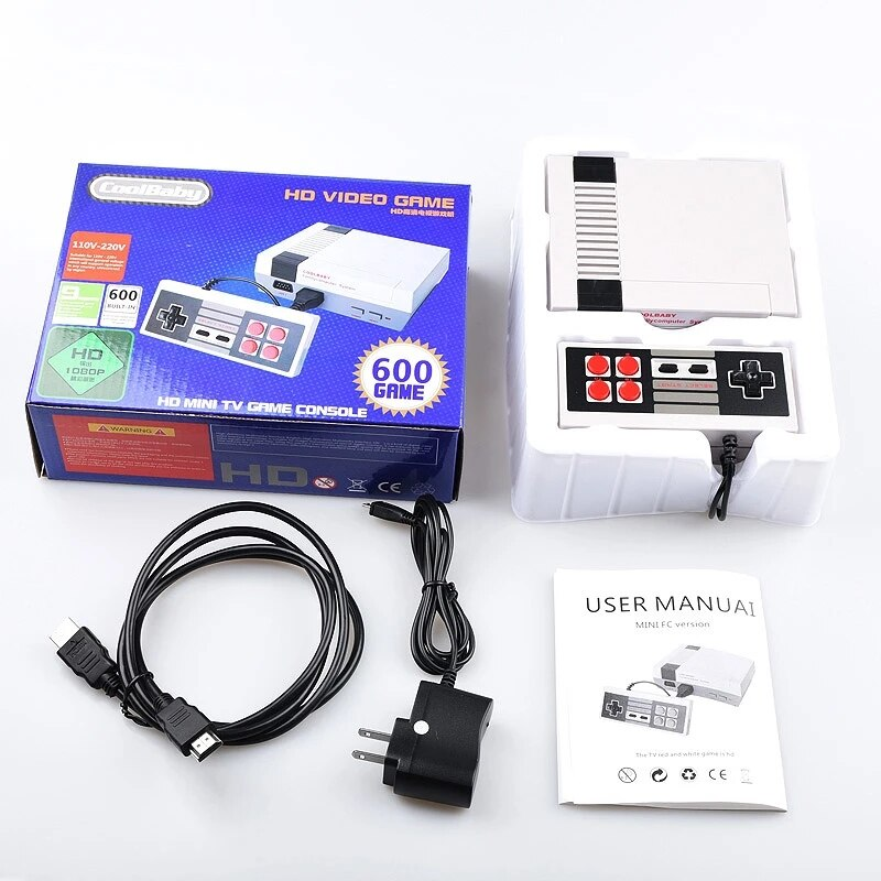 Coolbaby HD/AV الناتج ريترو كلاسيكي يده لعبة لاعب التلفزيون لعبة فيديو وحدة التحكم الطفولة giftالمدمج في 600/500 ألعاب وحدة تحكم صغيرة