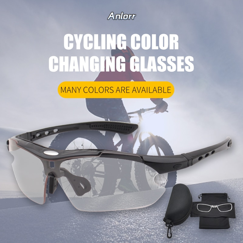 Riding Cycling glasses bike bicycle sunglasses Mountain bike goggles Sports Photochromic lens Riding equipment for men and women