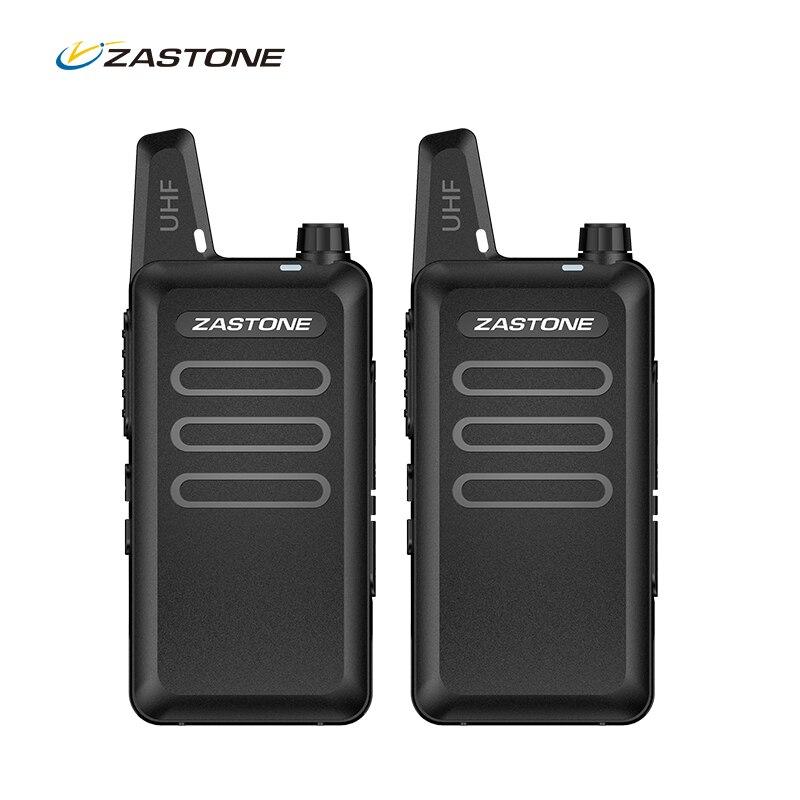 2PCS ZASTONE X6 mini walkie talkie uhf two way radio FM Ricetrasmettitore USB walkie-talkie Communicator Ham CB stazione Radio