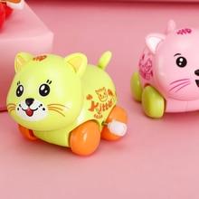 Wind-up Toy Giraffe Car Octopus Panda Cat Plastic Cartoon Animals Pull Back Clockwork Toy for Boys Girls Children Gifts