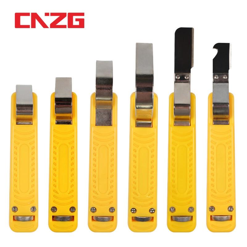 Pelado de cables y extractor de capa de aislamiento cuchillo pelador de tiras Cabel Pelacables coax Mini herramienta peladora para LY25-1 de PVC