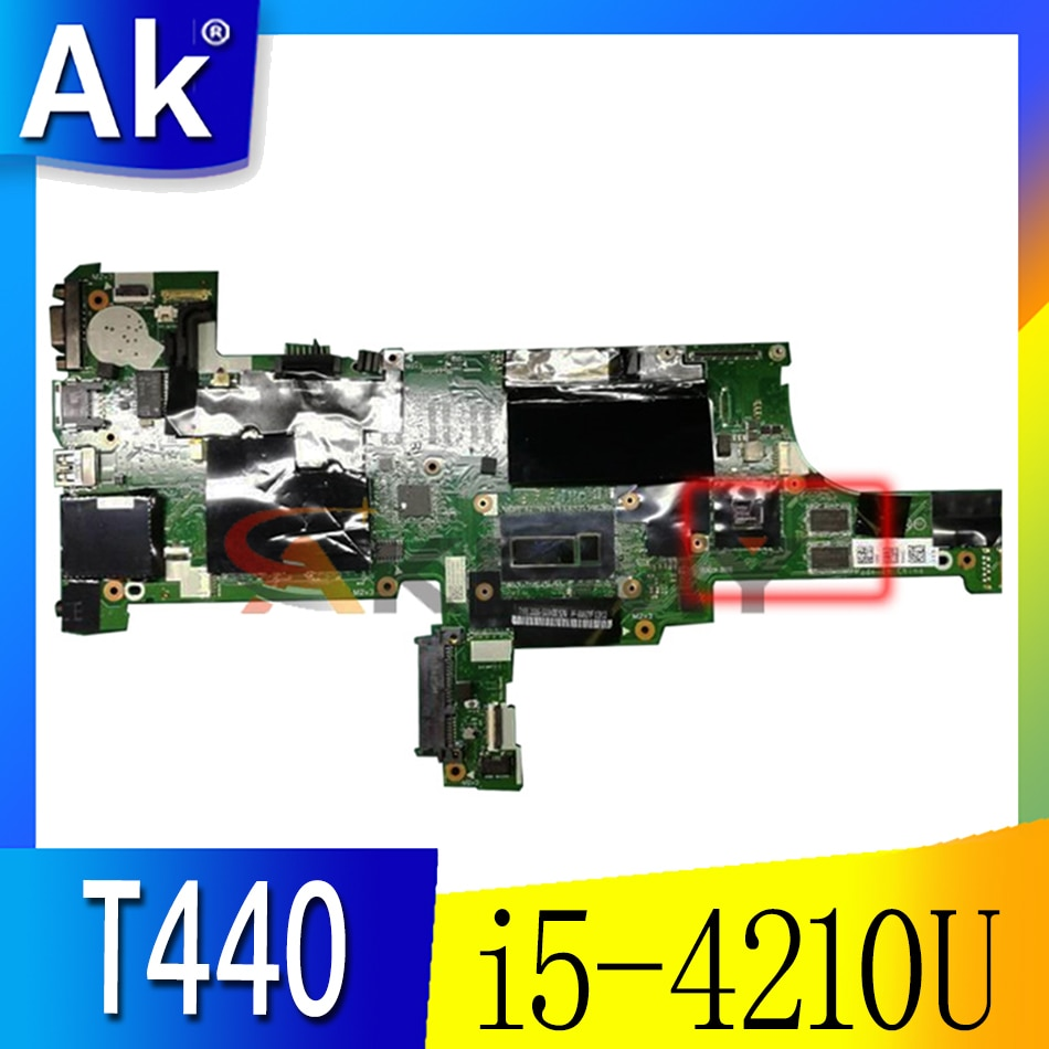 Akemy فيفl0 NM-A101 FRU 00HW219 لينوفو ثينك باد T440 اللوحة الأم SR1EF i5-4210U وحدة المعالجة المركزية على متن GT720M الرسومات