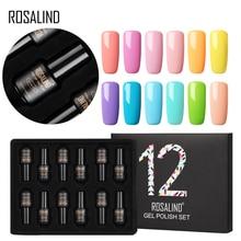 ROSALIND Gel vernis ensemble pour manucure 12 pièces/lot UV couleurs Gel vernis à ongles Semi Permanent hybride Nail Art Gel vernis ensemble et Kits