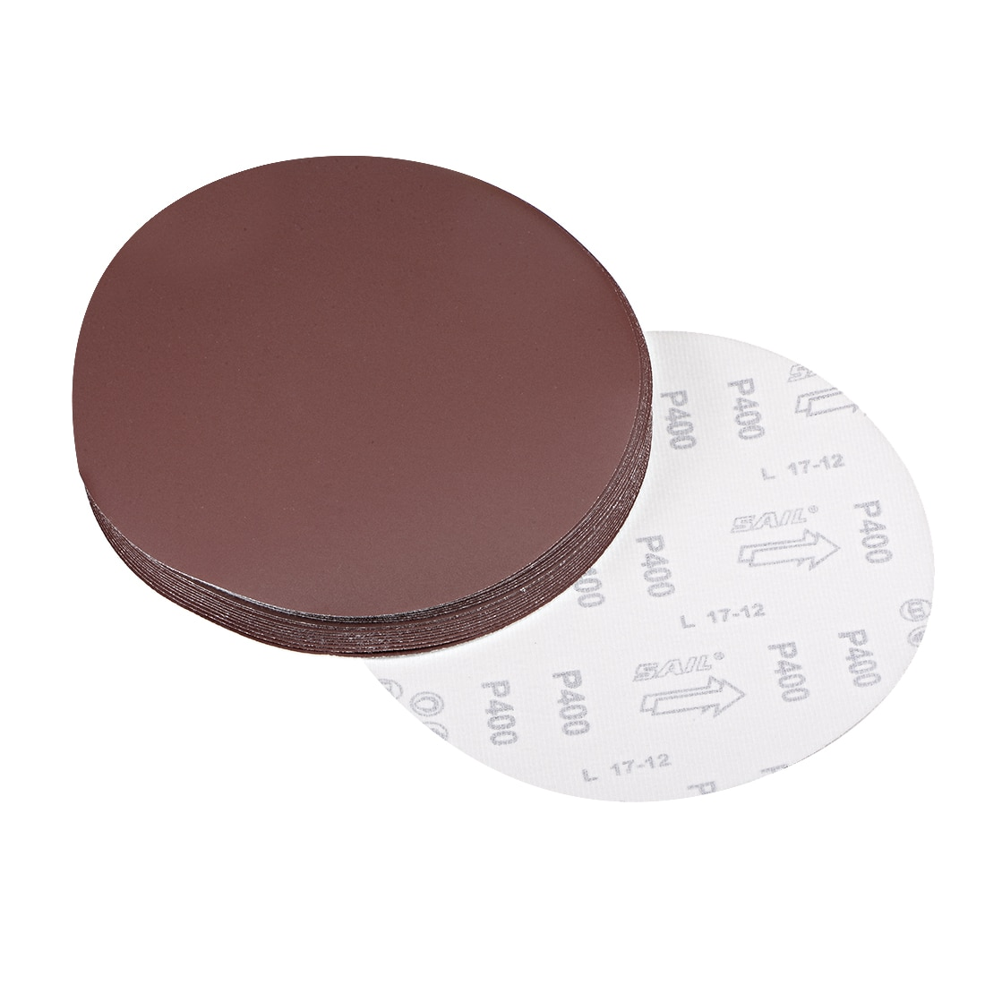 Uxcell 9-дюймовый шлифовальный диск 400 гр. оксид алюминия стекаются назад наждачные бумаги к дереву, резиновый кожаный пластиковый камень и т. Д....