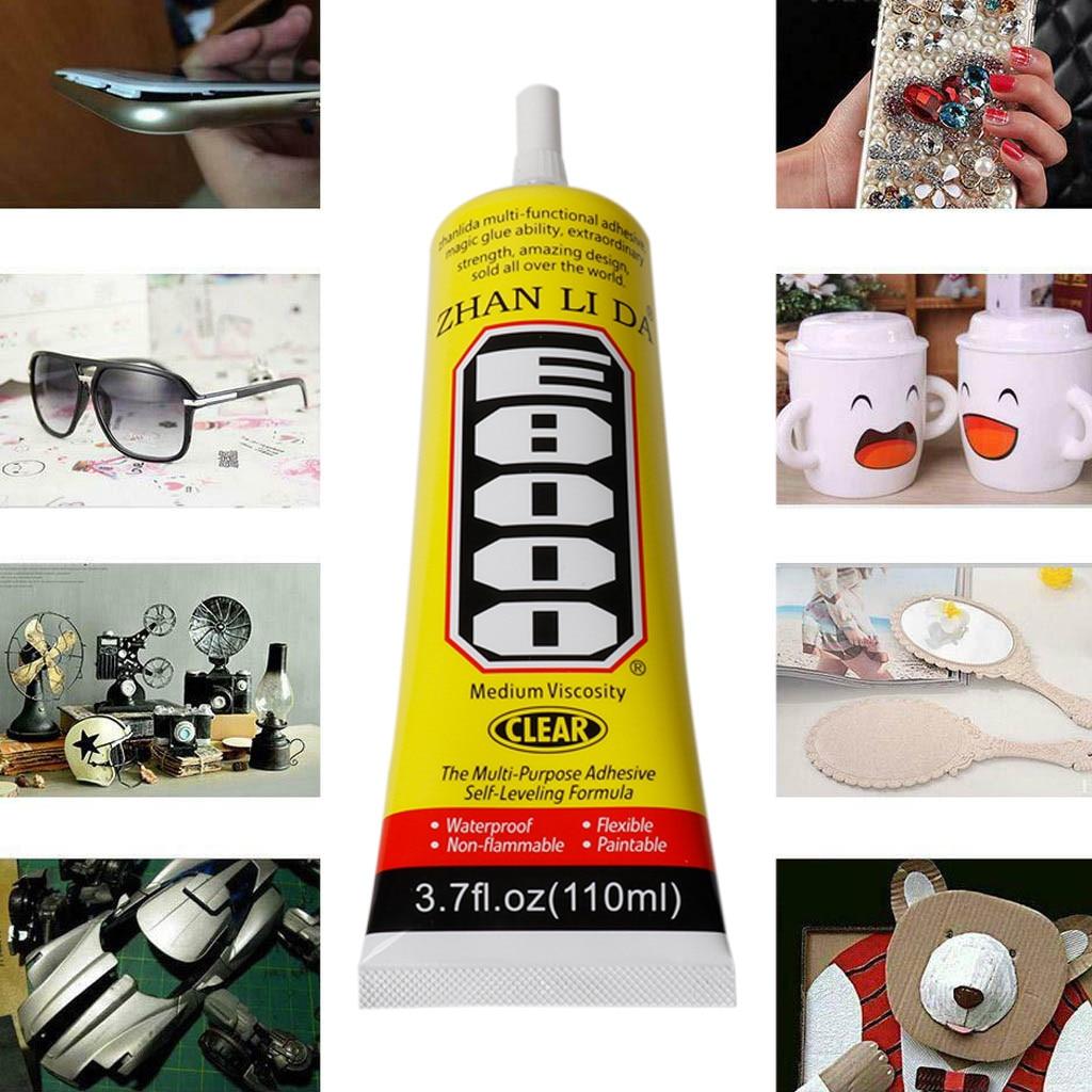 Pegamento sellador adhesivo transparente E8000 para DIY, pasta de diamante para zapatos, artesanía de joyería, supersellador adhesivo fuerte e instantáneo