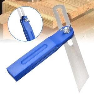 """Adjustable Sliding Portractor 8"""" Sliding Bevel Carpenters Bevel Gauge Angle Ruler For Wood Marking Level Measuring Tool"""