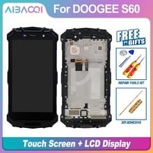 Aibaoqi Nieuwe Originele 5.2 Inch Touch Screen + 1920X1080 Lcd-scherm + Frame Assembly Vervanging Voor Doogee S60/S60 lite Telefoon