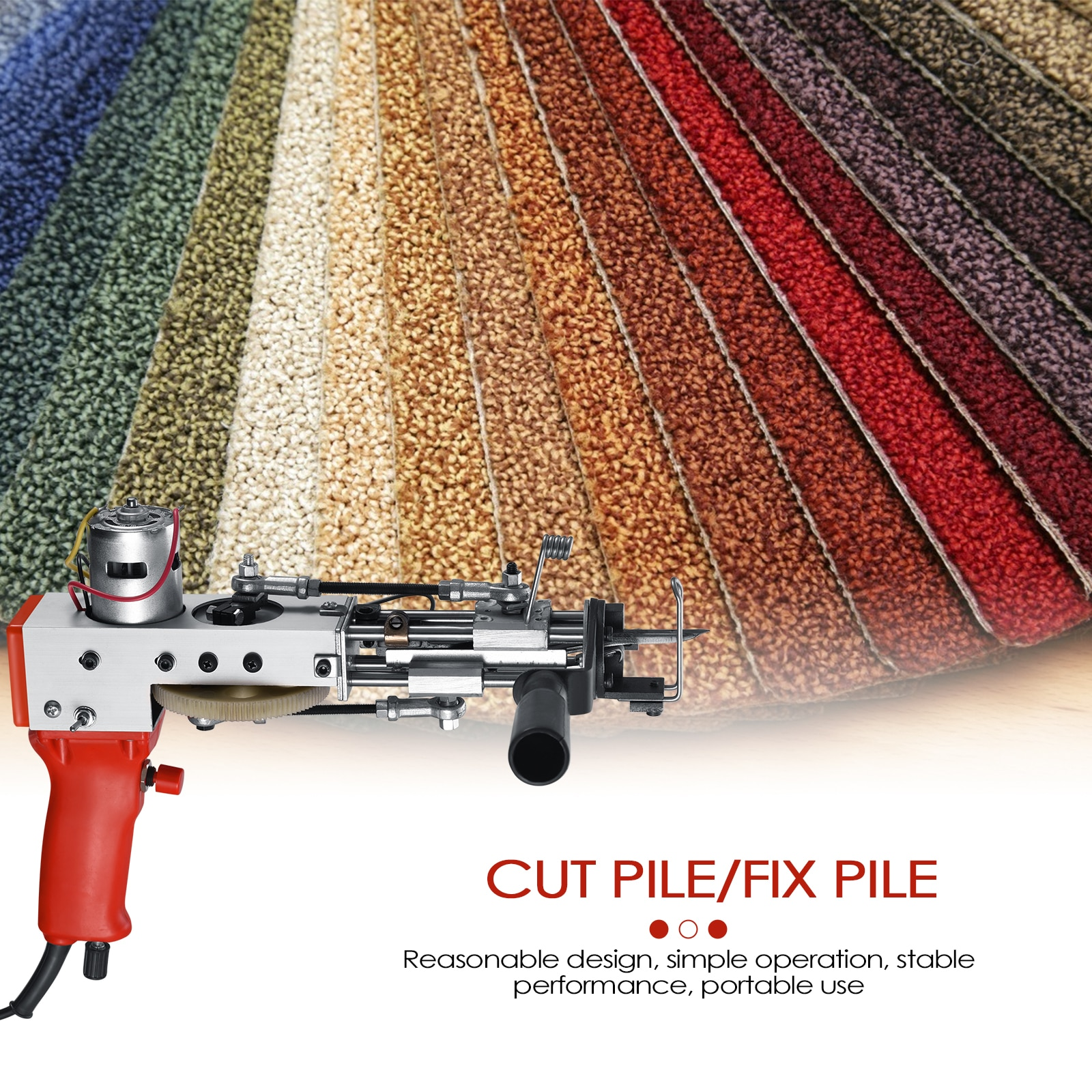 2 in 1 Tufting Gun Cut Pile and Loop Pile Rug Tufting Gun Electric Carpet Tufting Gun Home Embroidery Machine for Weaving Art enlarge