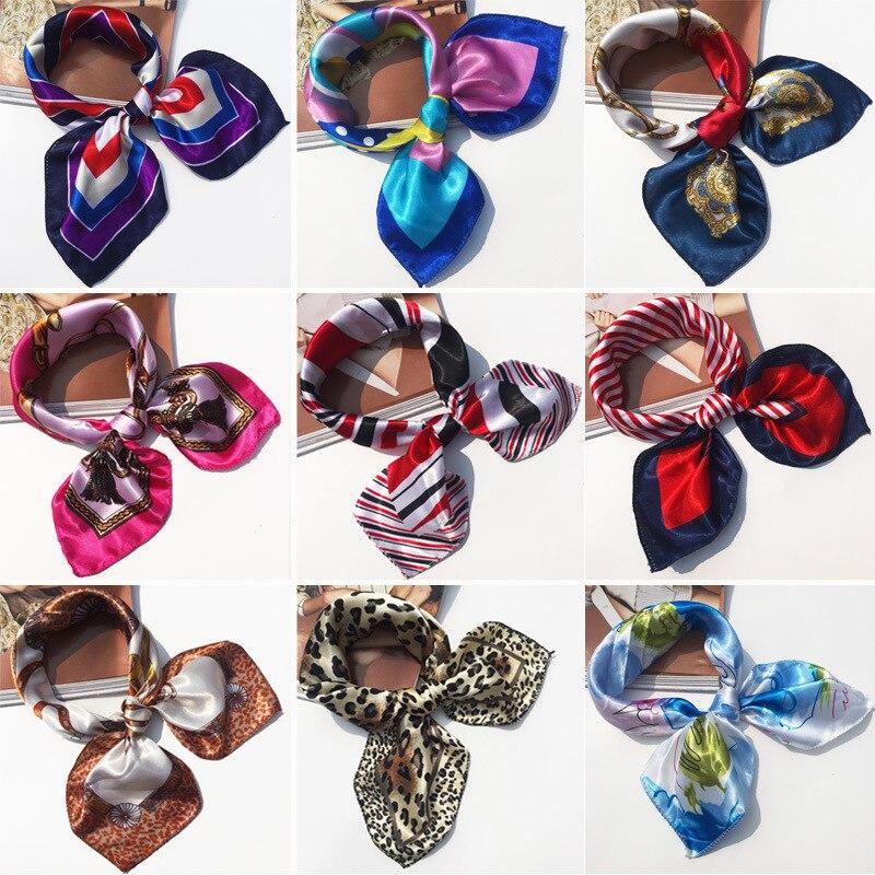 Pañuelo cuadrado para mujer, pañuelo de seda con cuello en la cabeza, pañuelo de seda, pañuelo cuadrado para mujer
