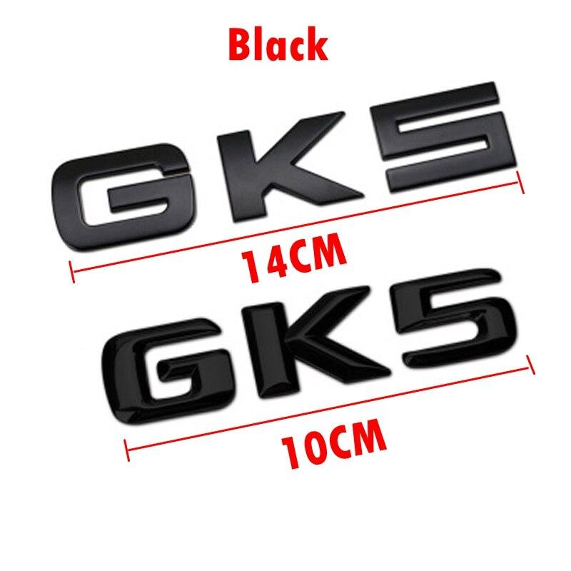 14cm/10cm Zinc Alloy 3D GK5 Letter Body Car Trunk Sticker Car Exterior Decoration Sticker Suitable for Honda Car Accessories