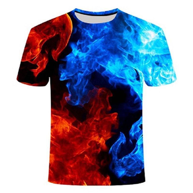 2021 NOVEDAD DE VERANO 3d t camisa Camiseta negra Casual Camiseta Streatwear...