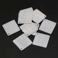 10pcs new exquisite natural shell pendant white square fashion high quality pendant jewelry for making diy necklace accessories