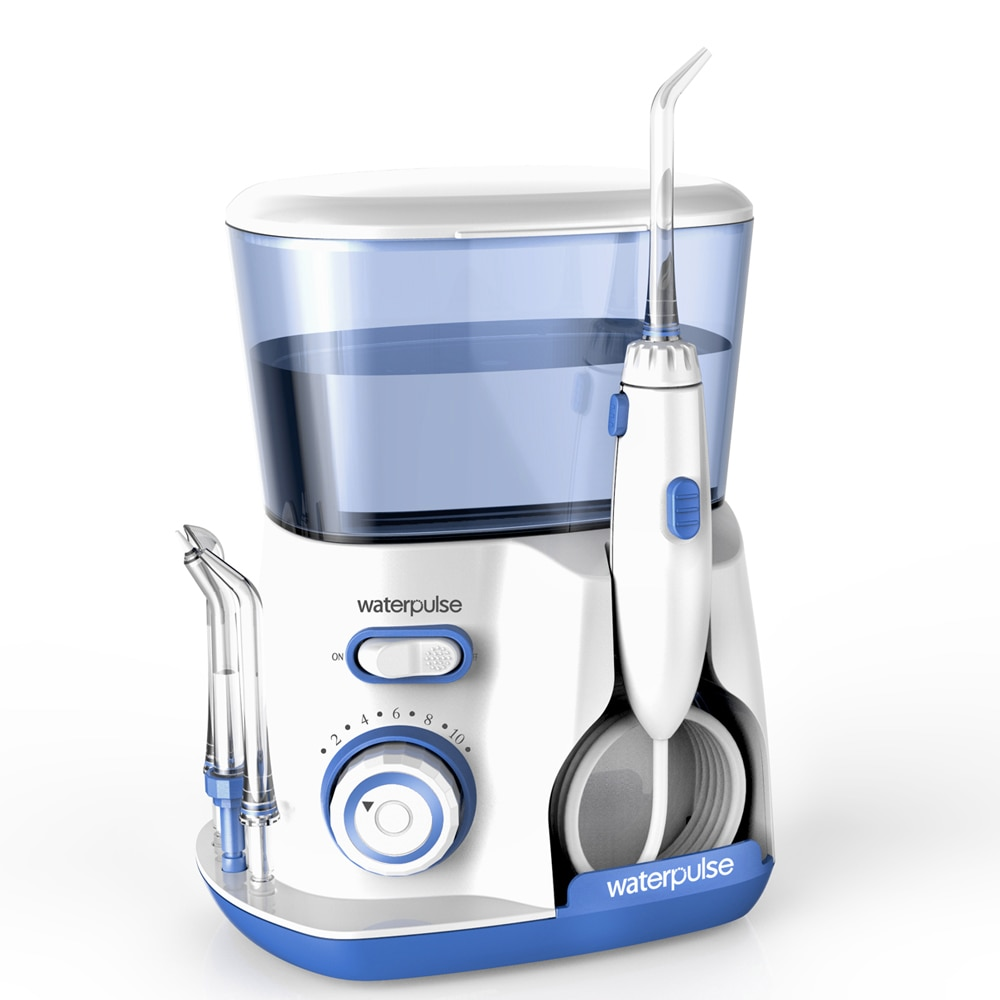 10 levels Oral Water Dental Flosser Irrigator, 20-120PSI V300G Water pick + 5 Nozzles, 800ml Oral Hygiene tools for tooth clean enlarge
