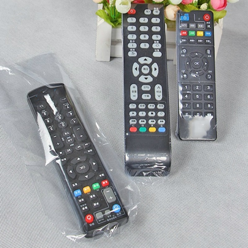 5pcs 27X11cm Transparent Remote Control Cover for TV Air Condition Dustproof Protective Bag Case for Xiaomi Samsung TV Remote