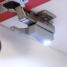 4 Stuks! 0.25W Led Inner Sensor Kast Scharnier Licht Voor Slaapkamer Woonkamer Kast Kast Kledingkast Nachtlampje Wit Warm Wit