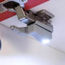 4 pièces! 0.25W LED capteur intérieur armoire charnière lumière pour chambre salon placard placard garde-robe veilleuse blanc chaud blanc