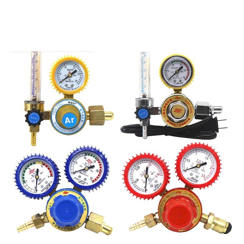 Oxígeno/propano/acetileno/argón, regulador de presión, reductor, caudalímetro, regulador de Gas, válvula Reguladora de argón, envío gratuito