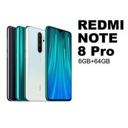"Redmi nota 8 pro 6gb + 64 gb telefone móvel smatrphone miui android xiaomi mi redmi nota 8 pro note8pro 8pro 64 gb 4500 mah 64 mp 64mp mediatek helio g90t 6,53 ""nfc ips 26052 26053 26054 26055"