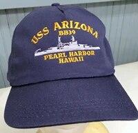 printed uss arizona pearl harbor snapback baseball cap hat original