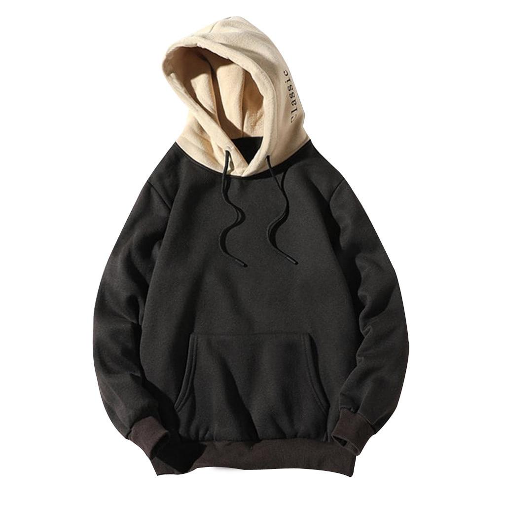 2019 Mens Casual Patchwork Sweatshirt Hoodie Men Loose Hip Hop Sweatshirt Pullover Male Long sleeve Street wear Hoodies bluza