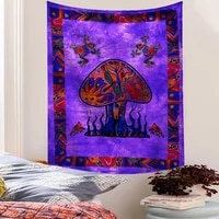 nordic wall hanging tapestry psychedelic bizarre print art painting decoration backdrop cloth for bedroom living room