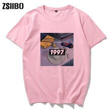 Camiseta do vintage rosa triste retro anime chorando olhos vaporwave camiseta masculina manga curta camiseta casual topos harajuku streetwear