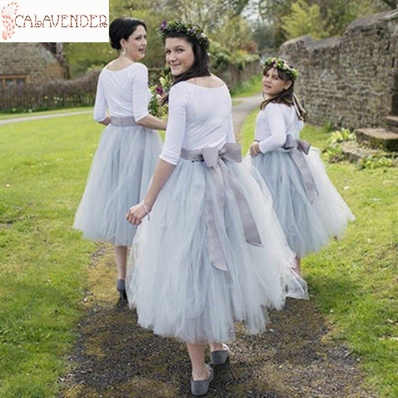 Vestidos de LICRA de tul para damas de Honor, de corte a...