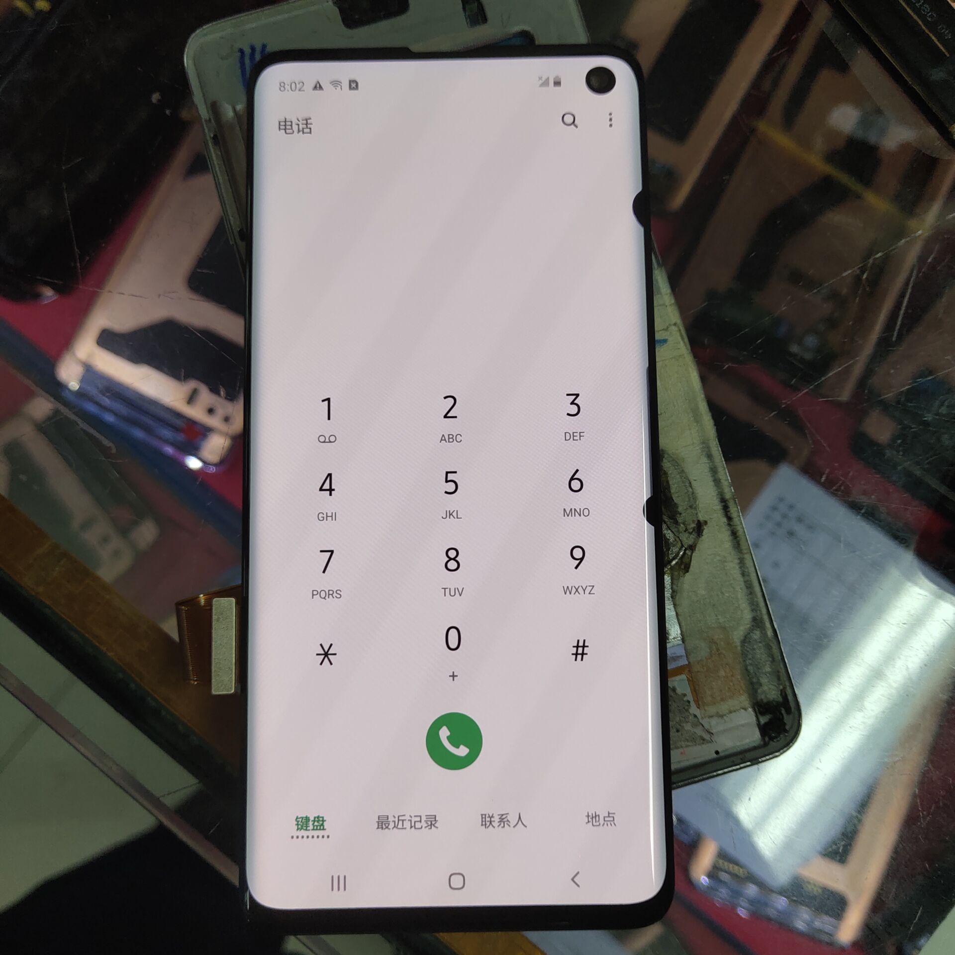 اثنين الميت بكسل الأصلي سوبر AMOLED LCD لسامسونج S10 SM-G9730 G973F LCD عرض تعمل باللمس محول الأرقام الميت بكسل