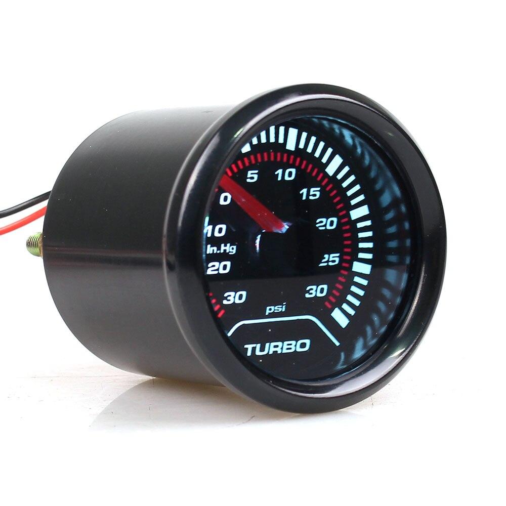 52mm 2 polegadas led carro claro da lente-30-30 psi turbo boost gauge para o carro universal