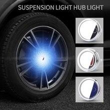 La roue de voiture de lumière de moyeu couvre le chapeau déclairage de couverture centrale légère lampoule de LED dillumination flottante auto pour bmw pour benz pour VW pour Buick