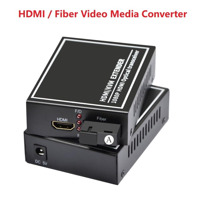1 Pair SC port Fiber video media fiber extender 1080P HDMI audio and video optical end machine HDMI fiber optic transmitter