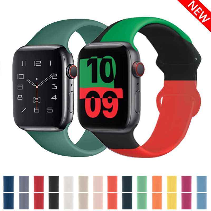 Strap for Apple Watch Band Apple 38mm 42mm Iwatch Accessories Watch Sport Serie 3 4 5 SE 6 40mm 44mm