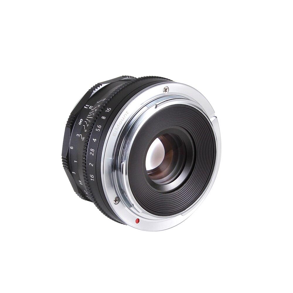 Lente mf prime do foco manual de 35mm f/1.6 para para a câmera sem espelho a6500 a6300 a6000 a5100 a5000 a3000 nex7 nex6 nex5 de sony e-monte