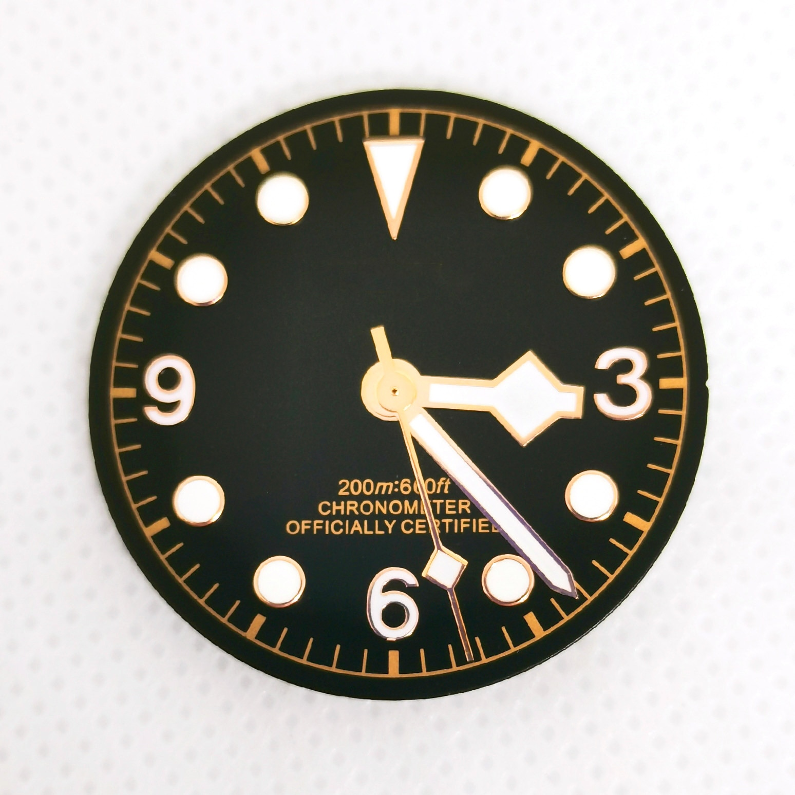 Watch Part Stainless Steel Brown Color Case Green night Light Dial And Hands Fit Automatic Movement ETA2836/2824 Miota8215 enlarge