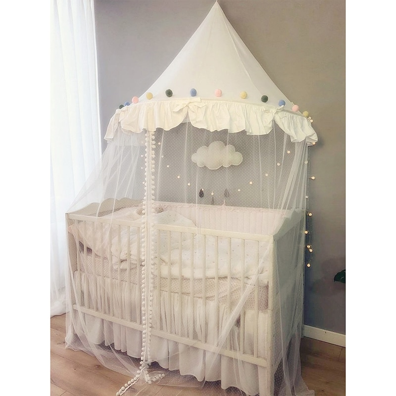 Baby Crib Mosquito Netting Tent for Kids Girls Princess Bed Canopy Children Play House Tent Tipi Enfant Teepees Home Decoration enlarge