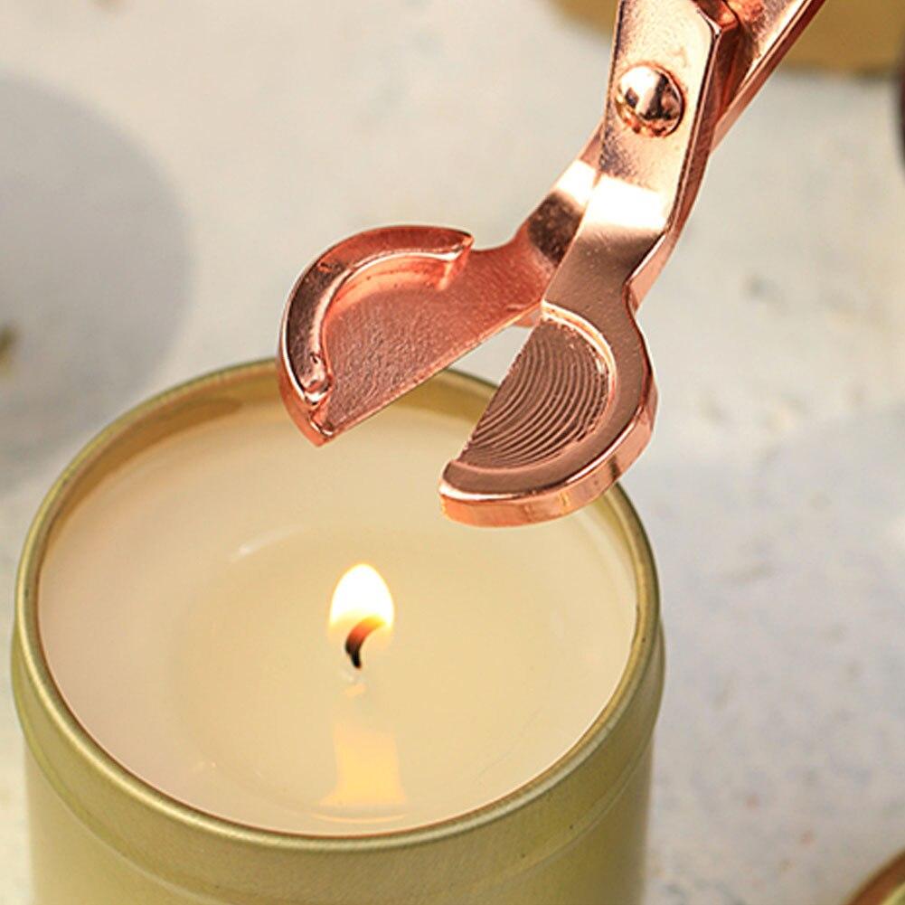 1 pçs vela pavio trimmer aço inoxidável lâmpada de óleo guarnição tesoura tijera tesora cortador snuffer ferramenta gancho clipper apr14