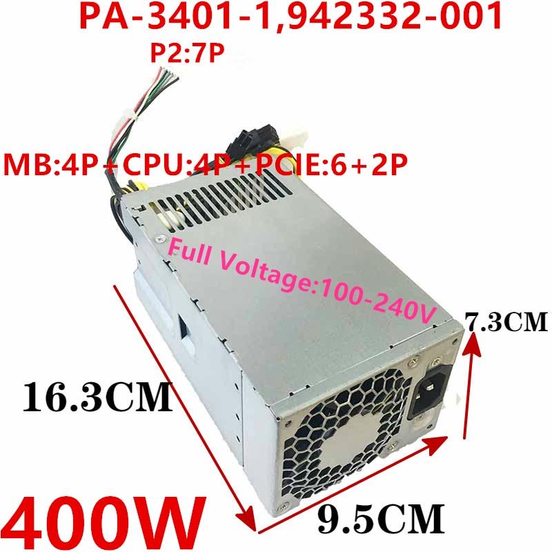 New PSU For HP 86 89 280 480 400 600 800G3 G4 G5 400W Power Supply PA-3401-1HA 942332-001 PA-3401-1