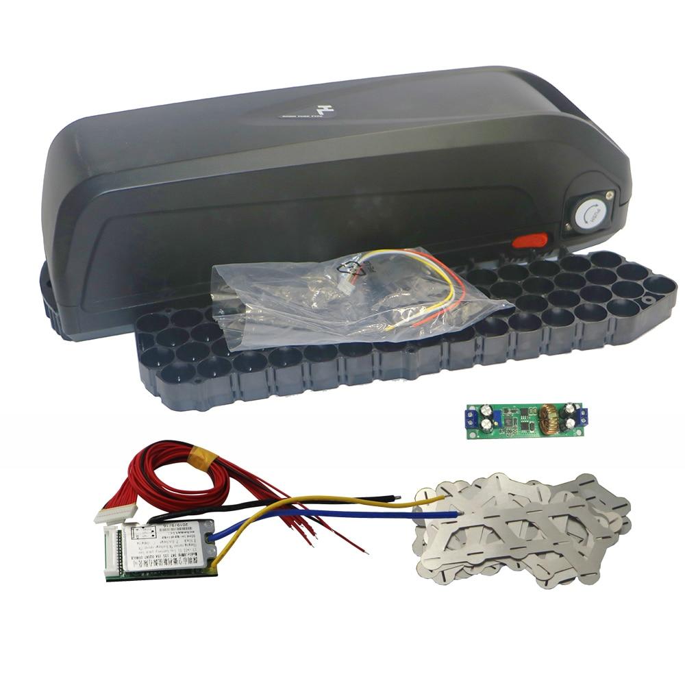 E-الدراجة 48V بطارية مربع + النيكل ملاءات + حماية PCB تخزين مربع ليثيوم أسفل أنبوب الكهربائية دراجة بطارية حالة مع 18650 حامل