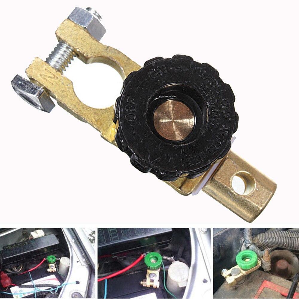 Interruptor de ligação terminal universal da bateria de carro rápido corte-fora desconexão cabeça preta caminhão de carro peças de automóvel acessório