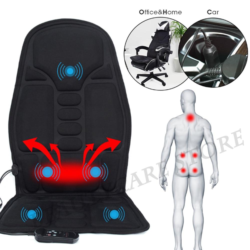 Smart Electric Back Massage Chair Cushion Vibrator Portable Home Car Office Neck Lumbar Waist Pain Relief Seat mat massage pad