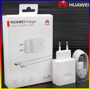 HuaWei SuperCharge 40W Max Charger Original 5A Fast Travel Charge Power adapter Usb C Cable Apply to Mate X2 40 30 Pro 20 Nova 8