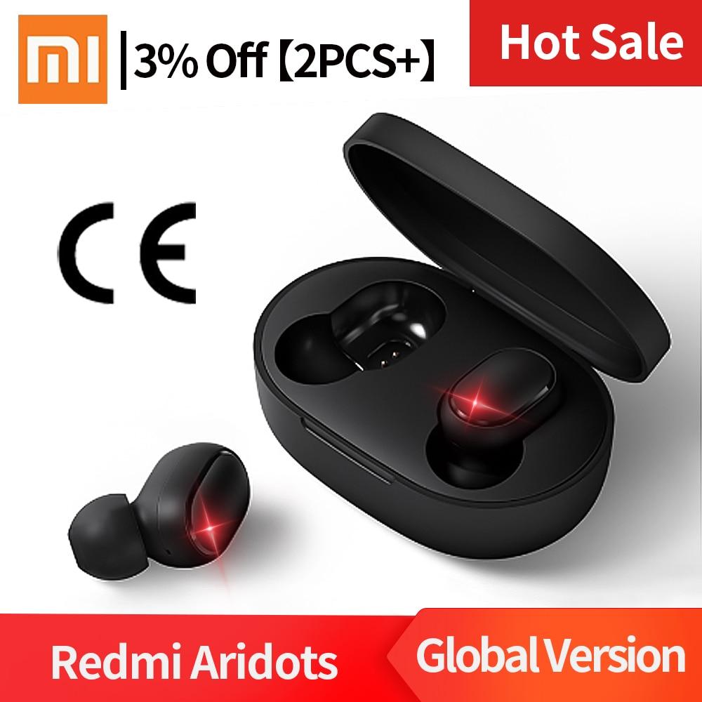 Instock Original Xiaomi Redmi Airdots Kopfhörer Drahtlose Kopfhörer Stimme Control Bluetooth 5,0 Noise Reduktion Tap Control IPX4