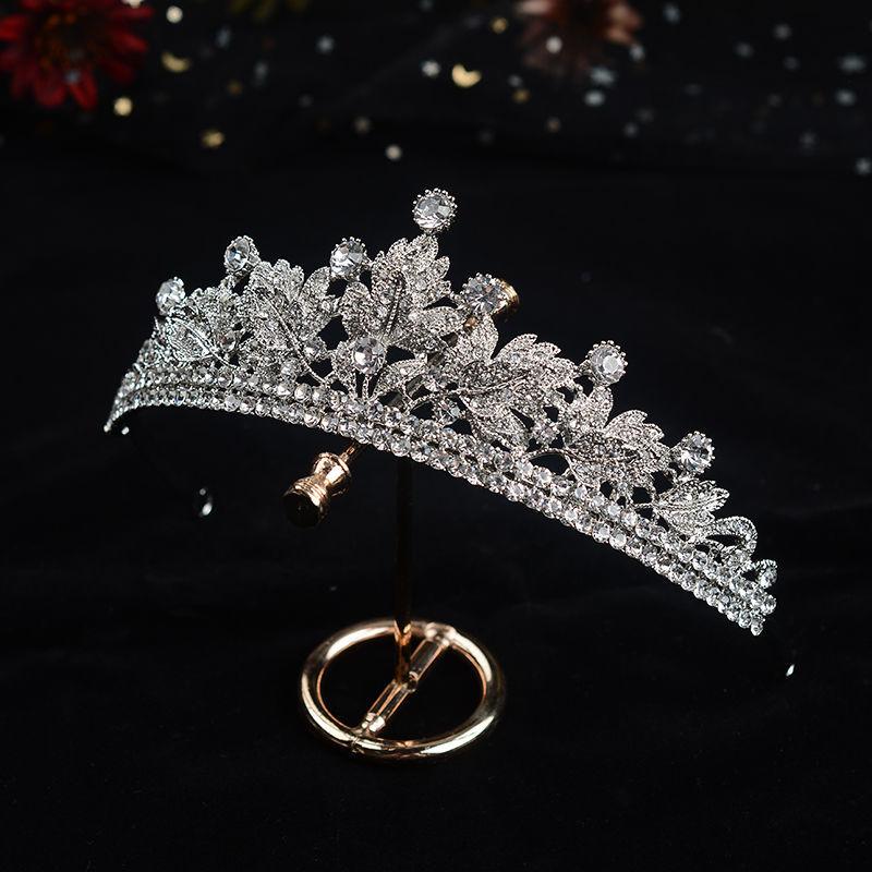 Corona de princesa para novia europea, accesorios de boda, cristales de circonita,...