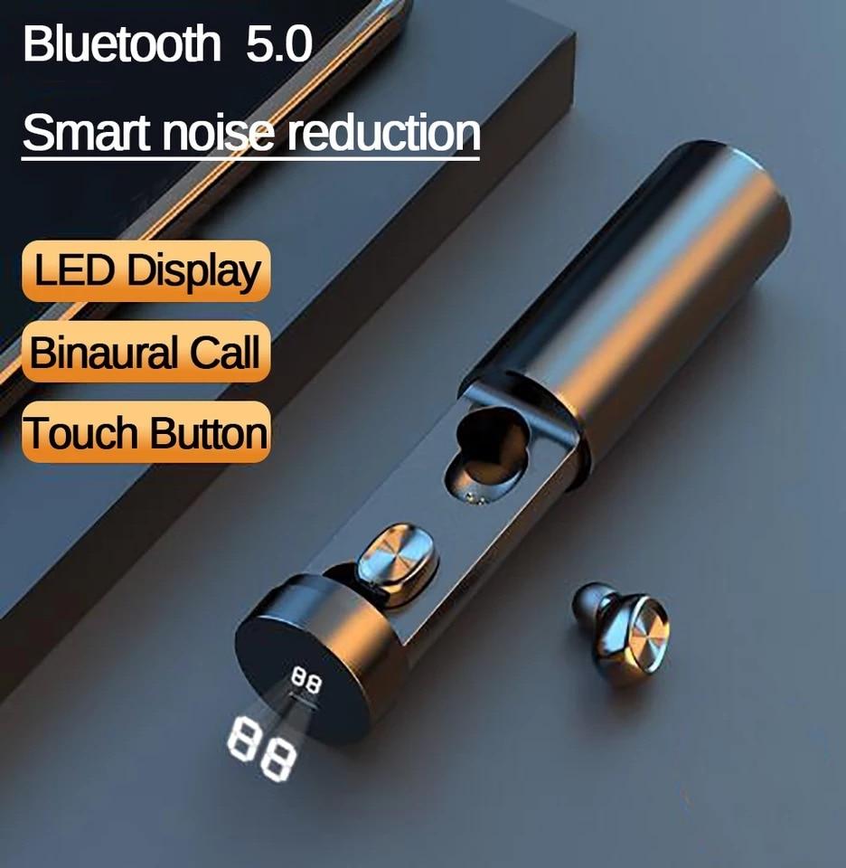 TWS auricular Bluetooth 5,0, auriculares de música para juegos para Xiaomi, para Samsung Huawei, Auriculares deportivos de alta fidelidad 8D, auriculares con micrófono