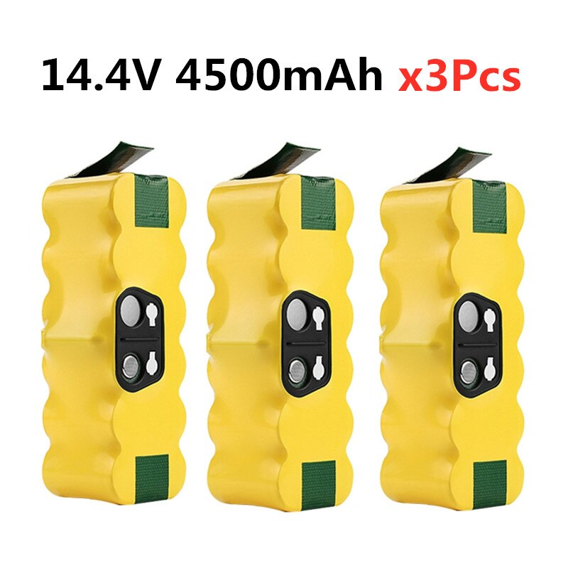 3PCS Upgrade 14.4V 4500mAh Ni-MH Battery for iRobot Roomba 500 510 530 532 534 535 540 550 560 562 570 580 600 610 700 760 770R3