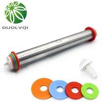 Duolvqi longitud ajustable Rolling Pin molde para repostería de acero inoxidable 43cm rodillo para tartas pasta Pin para hornear herramientas