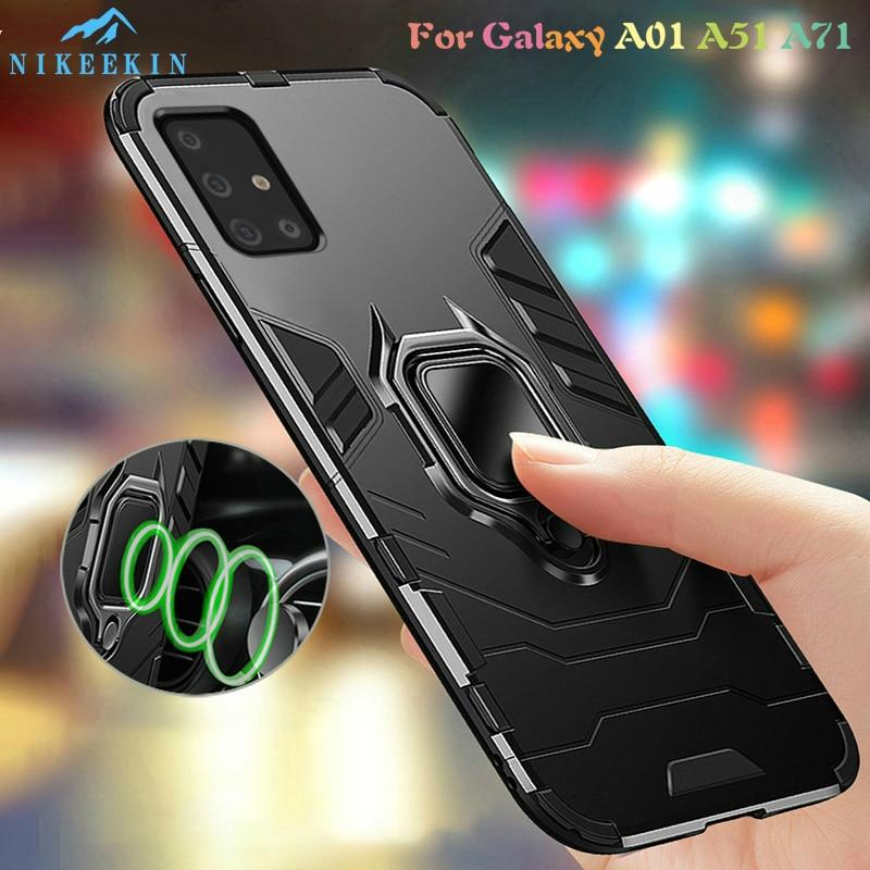 Étuis antichoc pour Samsung Galaxy A51 A01 A71 étui armure magnétique étui pour Samsung A51 A01 A71 étui voiture support de téléphone couverture