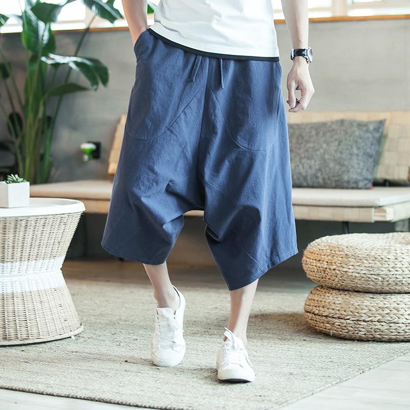 Harajuku Harem Hosen Herren Sommer Baumwolle Leinen Joggers Hosen Mnnlichen Vintage Chinesischen Stil Jogginghose Fashions