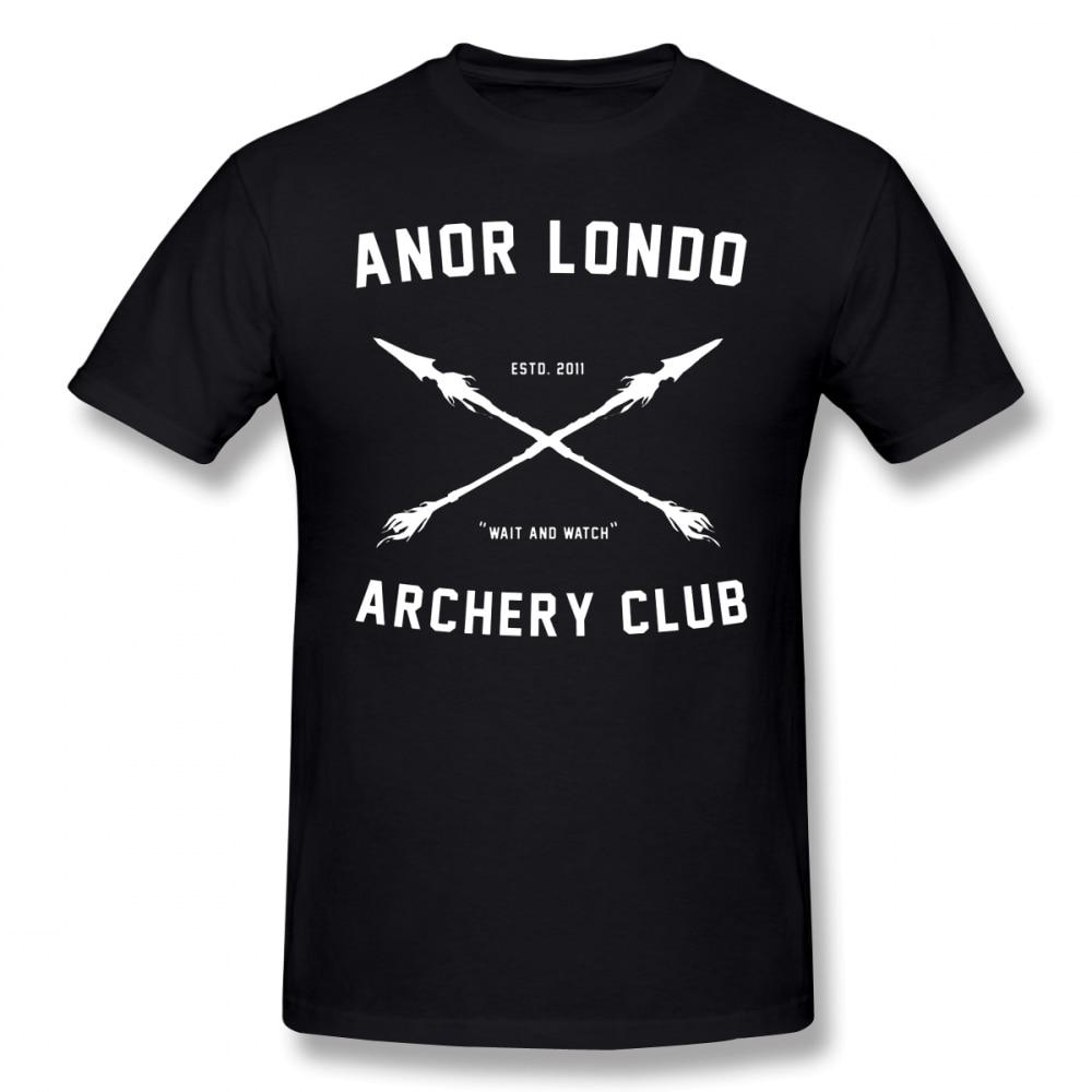 Camiseta Dark Souls, camiseta del CLUB de tiro con arco, 100%, Camiseta de algodón, impresionante camiseta estampada para hombre, Camiseta clásica de manga corta